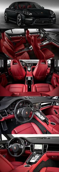 Porsche Panamera - red color  New 2017 Porsche Panamera Turbo will cost about $168000 or 153000 euros #luxurycars