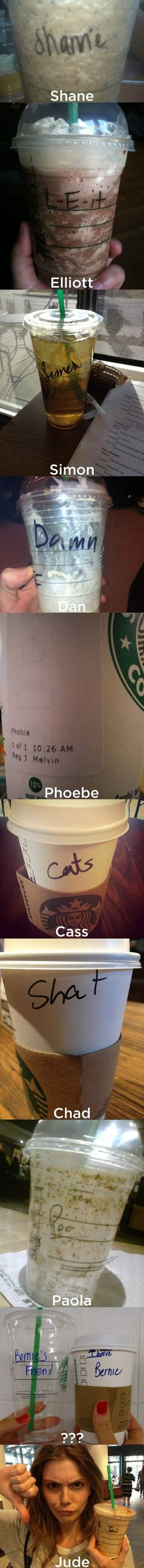 That's not my name, Starbucks!