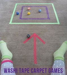 washi tape carpet games
