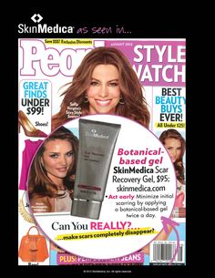 SkinMedica Scar Recovery Gel is photographed and featured in the August issue of magazine StyleWatch. It is featured as a product to help minimize scarring during the initial phases. Check it out! People Magazine, Stretch Marks, Check It Out, Recovery, Initials, Aesthetics, How To Apply, Science, Skin Care