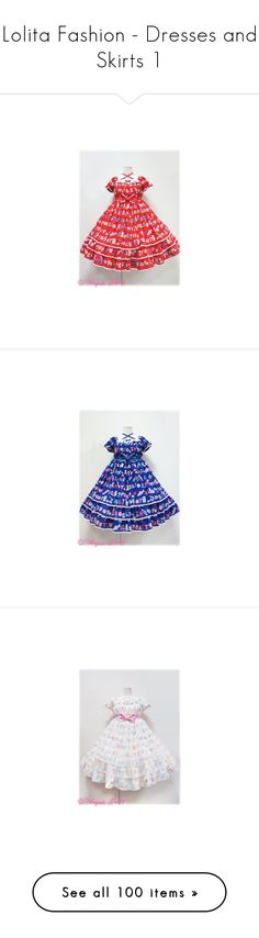 """""""Lolita Fashion - Dresses and Skirts 1"""" by tools13 ❤ liked on Polyvore featuring angelic pretty, dresses, lolita, blue dress, jsk, jumper skirt, holy night story, innocent world, jumperskirt and baby the stars shine bright"""