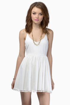 White Sands Skater Dress