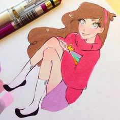Testing some Gravity Falls drawings recommended by a Juicy Ink backer! We are so close to making the stretch goal, we need your help! Less than an hr and a half to pledge www.kickstarter.com/projects/torianne00/juicy-ink