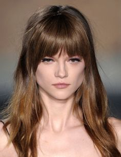 Emilio Pucci at Milan Fashion Week Fall 2013 Hairstyles With Bangs, Pretty Hairstyles, Easy Hairstyles, Haircuts, Neutral Blonde, Warm Blonde, Hair Lyrics, Shades Of Brunette, Cabello Hair
