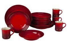 Image for 16-Piece Dinnerware Set - Was $296 from Le Creuset