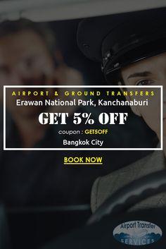Transfers from Bangkok city hotel to Erawan National Park, Kanchanaburi #ErawanNationalParkKanchanaburi