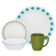 Corelle Livingware Dinnerware Set, South Beach, Service for 4 – Deals Good Dinnerware Sets Walmart, Dinnerware Sets For 12, Stoneware Dinnerware Sets, Square Dinnerware Set, Stoneware Mugs, Tableware, South Beach, Corelle Plates, Corelle Sets