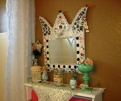 Such a lovely and creative mirror.  An inspiration to create something of my own.