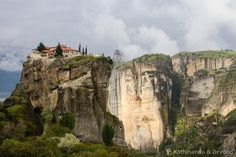 Holy Trinity Monastery Meteora Greece To begin with we were a bit gutted when we started our exploration of Meteora in Central Greece - the weather was terrible and at times we couldnt see the hands in front of our faces the fog was so bad but then we decided moody and cloudy is OK as long as the sun pokes through every now and then#greece #travel #meteora #moodysky #southerneurope