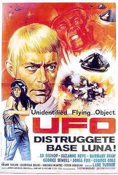Italian poster for UFO compilation released in cinemas in Italy