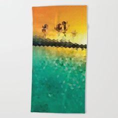 Geometric Sunset Beach Towel     38 USD    Only on Society6 24d5e71f3