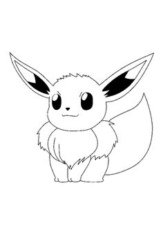 Coloriage Pokémon Evoli - Hugolescargot.com