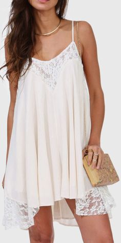 Firefest Outfit with Boots!!! Yup! Boho Lace Summer Dress ♥