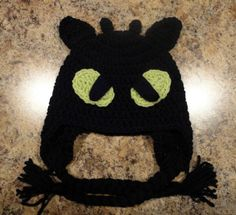 Toothless the Night fury hat  from How to Train Your Dragon. $20.00, via Etsy.