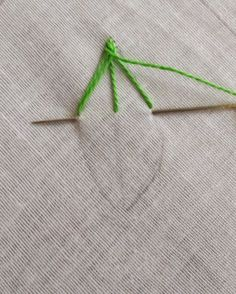 The first stitch that comes to my mind with the thought of embroidering a leaf is the Fishbone Stitch. It is from the family of crossed sti...