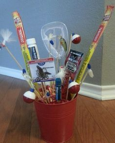 Man gift basket/ man bouquet/ fishing gift