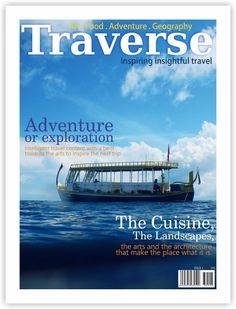 Design a magazine cover for a new travel magazine by Marius Design