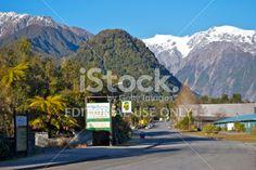 Franz Josef Glacier Village, West Coast Region, New Zealand. Image Now, New Image, Franz Josef Glacier, New Zealand Travel, Travel And Tourism, Small Towns, Editorial Photography, West Coast, Scenery