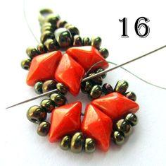 Flames Bracelet / Earrings Pattern | Bead-Patterns