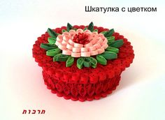 Quilled trinket box - Russian site -
