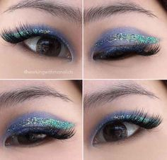Or try a shimmery, iridescent liner for a more ~whimsical~ look.