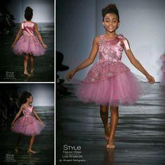 Loren Franco Designs Spring/Summer 2016 - girl's pink tulle dress