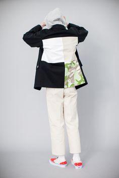 c6ad3634c85e Gosha Rubchinskiy Heavy Twill Cotton Coat Patchwork Black