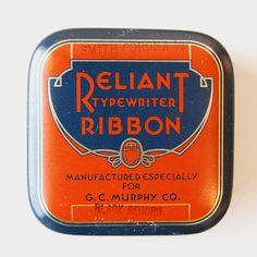 Typewriter Ribbon #vintage #packaging