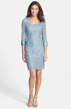 JS Collections Embellished Lace Dress & Jacket