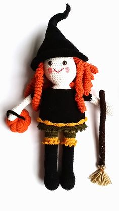 Annoo's Crochet World: Clementine the Friendly Witch Doll Free Tutorial