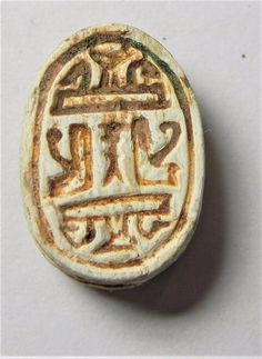 """Item specifics   Seller Notes: """"100 % GUARANTEED AUTHENTIC""""       Material:   STEATITE       ZURQIEH -AF1902- ANCIENT EGYPT ,  NEW KINGDOM . STEATITE SCARAB. 1400  B.C  Price : 100.00  Ends on : 5 days    - #Ancient, #Egypt"""