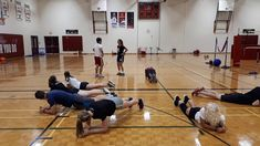 Duck Duck Goose In Plank: Players are in Plank position till Goose is called. Duck Duck, Jumping Jacks, Physical Education, Plank, Push Up, Exercise, Fitness, Ejercicio, Physical Education Lessons