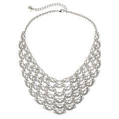 Simply Vera Vera Wang Filigree Bib Necklace