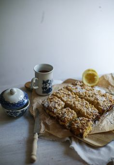 Triple Lemon Streusel Bars