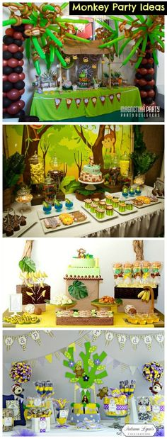 Creative Collection of Monkey Party Ideas #MonkeyParty http://www.momsandmunchkins.ca/2014/06/07/monkey-party-ideas/