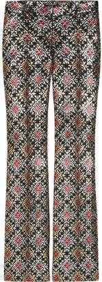 ShopStyle: Balmain Metallic brocade trousers
