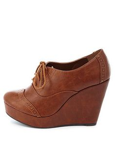 Lace-Up Brogue Oxford Wedges: Charlotte Russe - http://AmericasMall.com/categories/lingerie-underwear.html