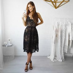 Two Sisters Annabelle Lace Dress BLACK