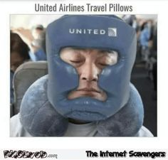 United Airlines travel pillows funny meme
