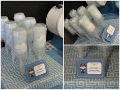 Airline party ~ blue skies cotton candy push pops