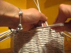 Jednoduchá uzavírka Paper Video, Newspaper Basket, Paper Weaving, Flower Pots, Diy And Crafts, Youtube, Handmade, Friends, Hampers