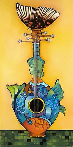 """Serenata Di Urna"" -- by Oestes Bouzon (b.1963, Cuban)"