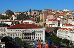 The Rossio /  The Teatro Nacional D. Maria II, (Maria II National Theater) in the background was built in the 1840s, was designed by the Italian Fortunato Lodi in neoclassical style. /   Flickr - Photo Sharing!
