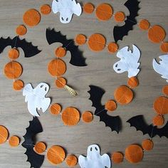 Image result for halloween styling felt garland
