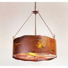 Steel Partners Pinecone 3 Light Drum Pendant Finish: Architectural Bronze, Shade / Lens: Khaki