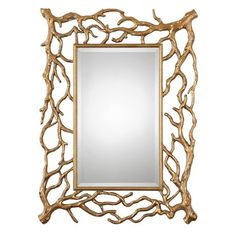 Uttermost Sequoia Gold Tree Branch Mirror | Scout & Nimble