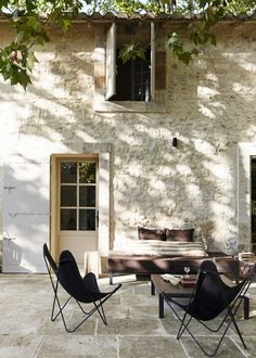 This traditional french country house has been modernised in a modern rustic style with a great mix of old and new.