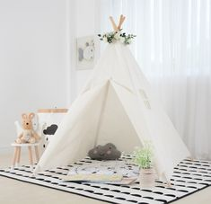 72daaba2a53 Canvas Teepee Play Tent for Kids - The Boulevards Kids Tents