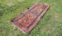 Antique Turkish Prayer Rug with Rare Swastika Pattern