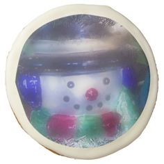 Cute Frosty Snowman Sugar Cookie from Florals by Fred #zazzle #gift #Christmas